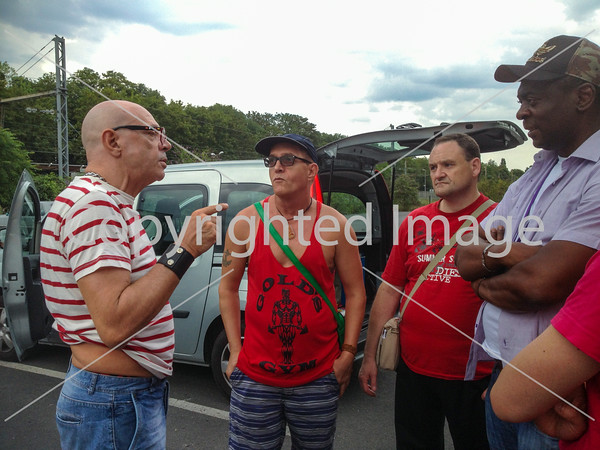 Sevran, France, AIDES HIV Prevention Militants Meeting in Outside Gay Cruising Area