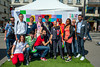 Paris, France, LGBT Anti-Homophobia Day IDAHO, Volunteers at Wall, Pigalle, 17/5/2014