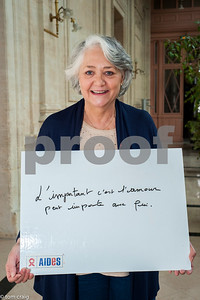 Paris, France, AIDS NGO AIDES, French People,, Holding Protest Signs Against Discrimination, Homophobia, Mairie du 3e , Liliane Capel