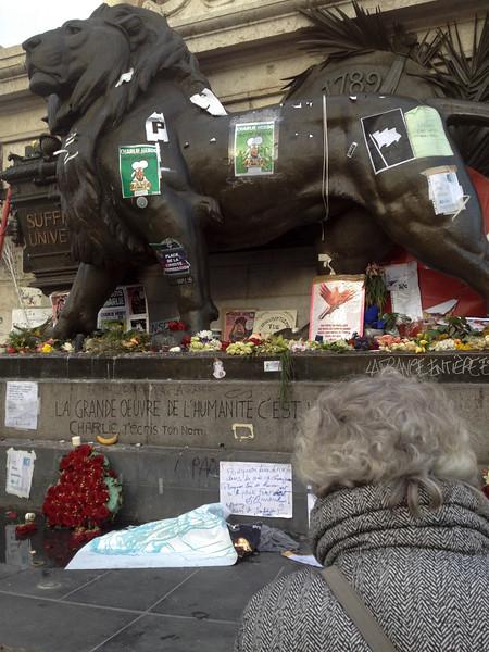 Paris, France, French Reaction to CHarlie Hebdo Shooting, Place de la République, Jan. 2014