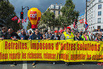 Paris, France, French Labor Unions Demonstration Against Reform of Retirement Reform by Government, 10/9/2013