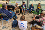 Paris, France, Anti-Nuclear protest, International Fasting for Abolition of Nuclear Weapons, on Anniversary of Bombing of Hiroshima and Nagasaki,