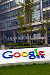 Beijing, CHINA- Business, Outside of the Google China Corporate Headquarters Building, in Zhongguancun Business Center with logo. Directphoto