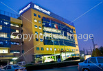 Beijing, China - Microsoft Corporation Office Building, Lit up at Night with Sign Directphoto