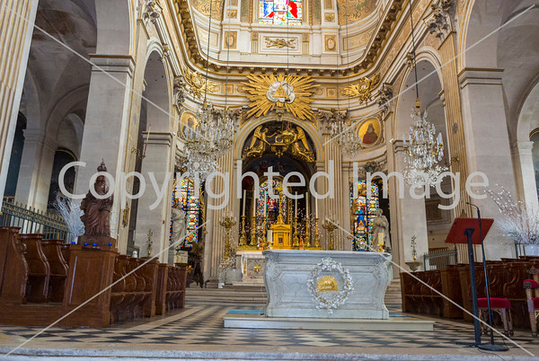 Paris, France, Inside Catholic Church, Saint Louis, Ile Saint Louis