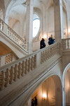 Paris, France, Le Louvre Museum, People Visiting  inside, Staircase