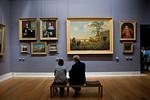 Paris, France, Le Louvre Museum, People Visiting  inside Art Galleries, Dutch Paintings